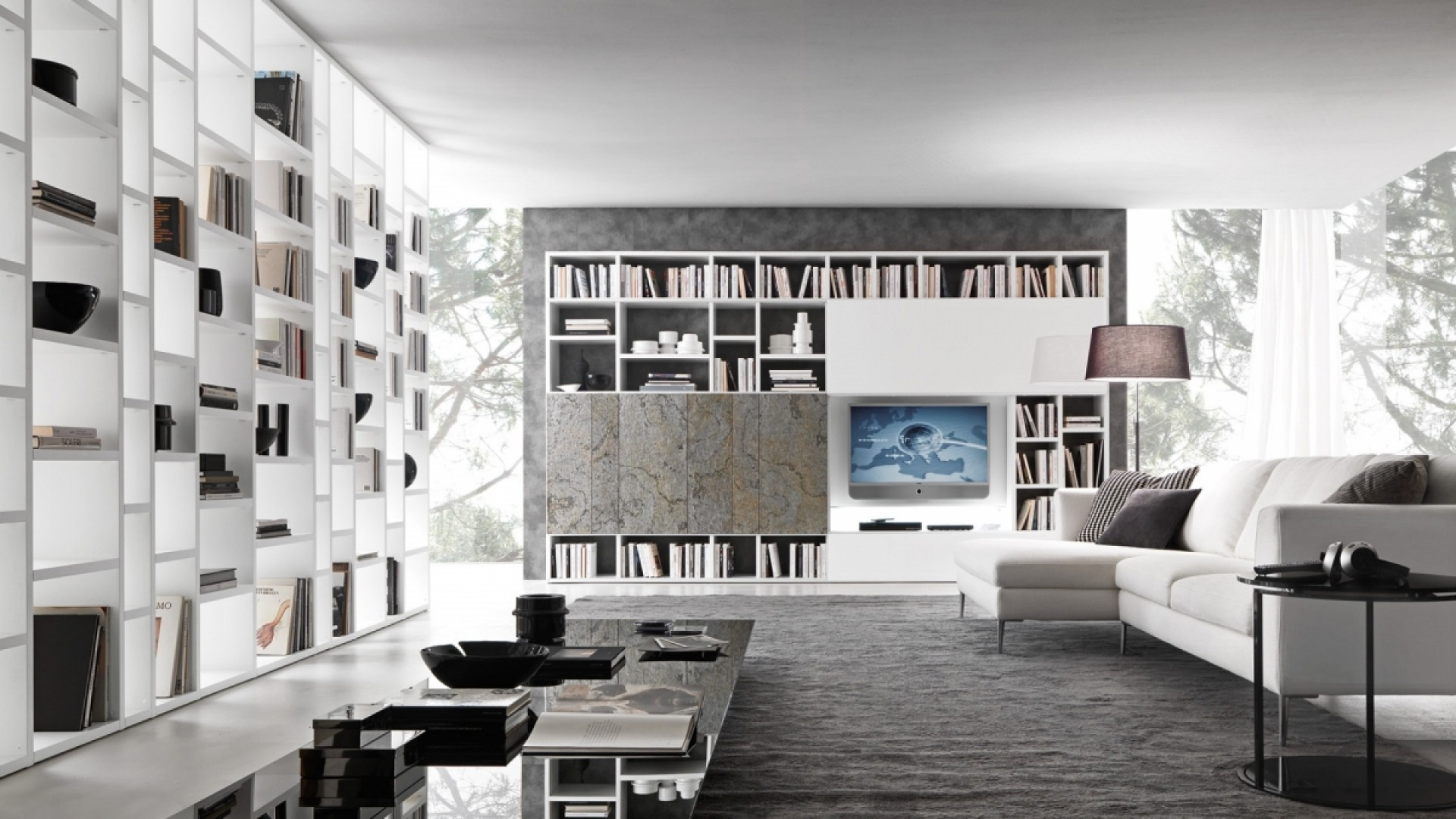 Ultra moderne dnevne sobe for Arredamento pari
