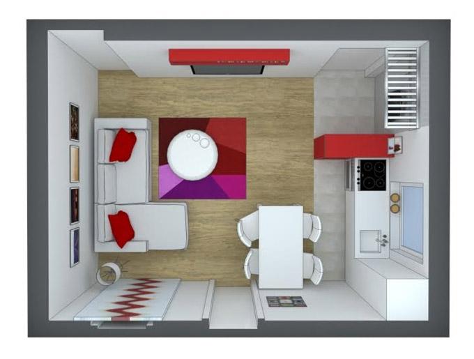 Kako organizovati ulaz, kuhinju, trpezariju i dnevni boravak u malom prostoru