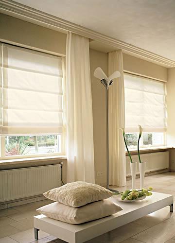 Izbor zavjesa i boje zida u stanu sa be osnovom for Overgordijnen woonkamer