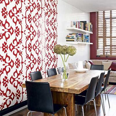 16 inspirativnih trpezarija for Dining room feature wall ideas