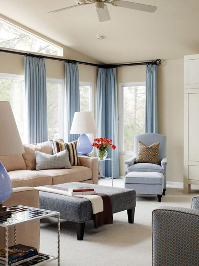 20 modernih zavjesa za vašu dnevnu sobu